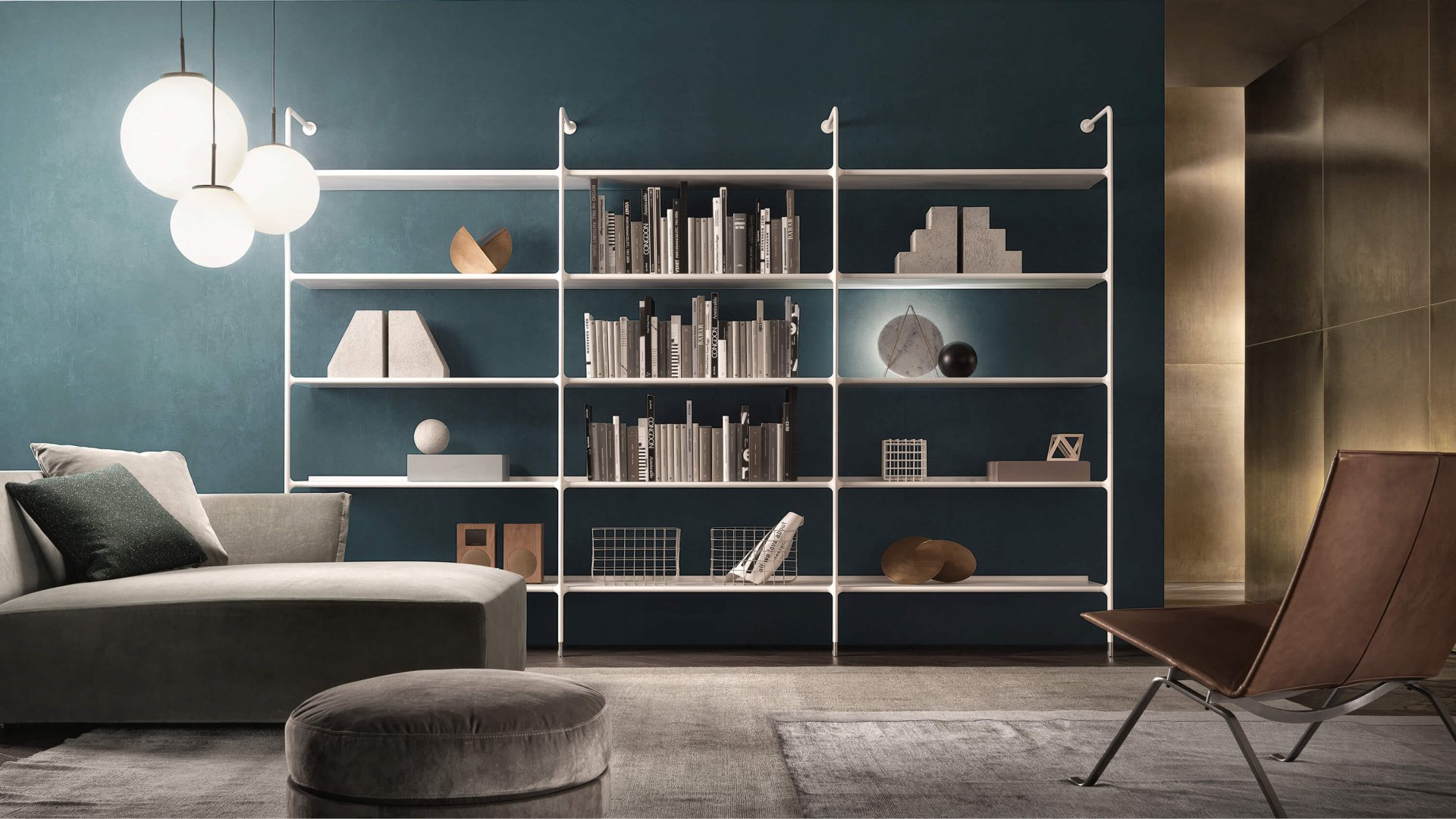 Wind wall bookcase