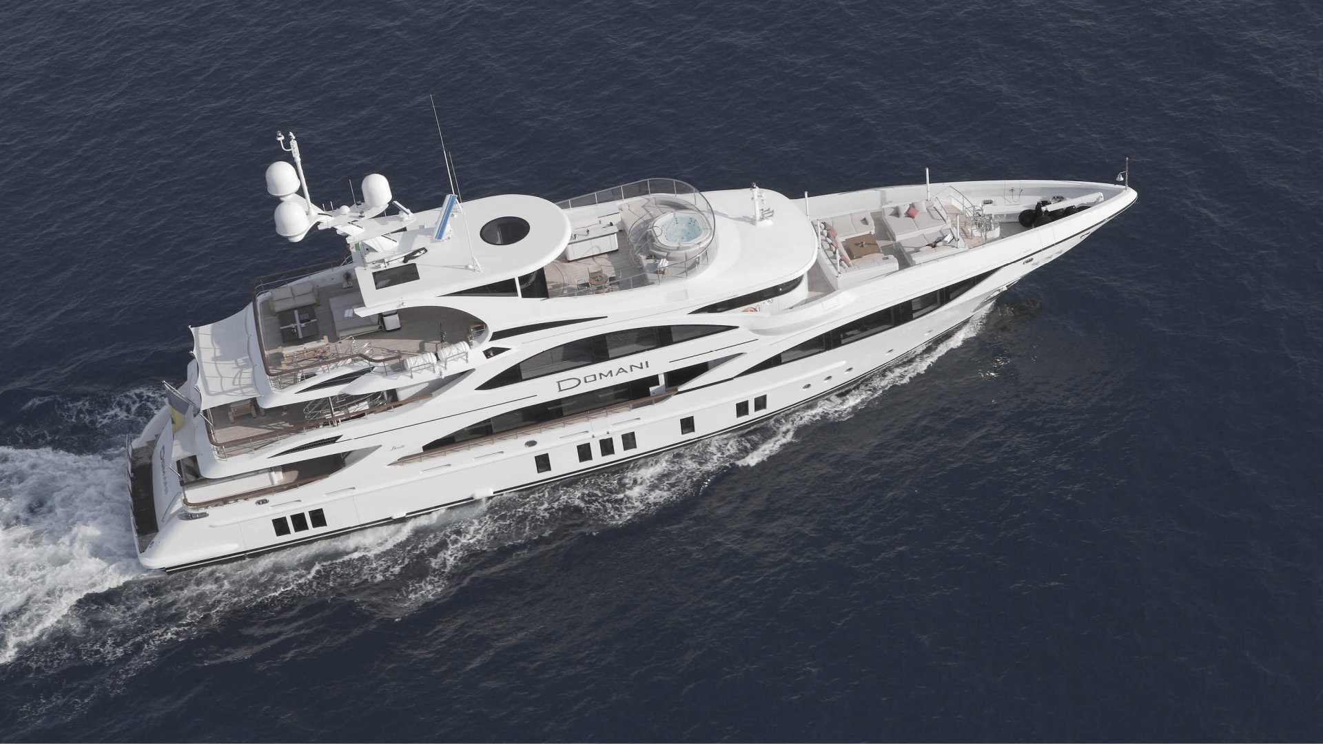 Project of M / Y Domani realized by Benetti Shipyard